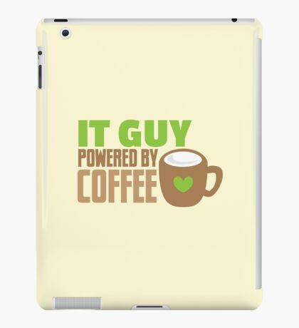 IT GUY powered by coffee iPad Case/Skin