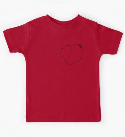 Love Heart Cool Cute Heart Funny Valentine Kids Tee