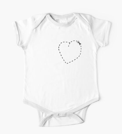 Love Heart Cool Cute Heart Funny Valentine One Piece - Short Sleeve