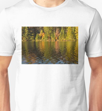 Colorful Ripples - Forest Lake in Autumn Unisex T-Shirt