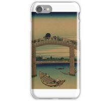 Under Mannen Bridge at Fukagawa - Hokusai Katsushika - 1890 iPhone Case/Skin