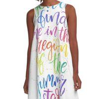 Walking in the Wind  A-Line Dress