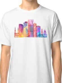 Denver landmarks watercolor poster Classic T-Shirt