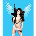 The angel with the gun by Brian Gibbs