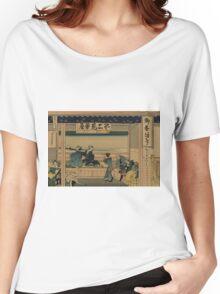 Tokaido Yoshida - Hokusai Katsushika - 1890 Women's Relaxed Fit T-Shirt