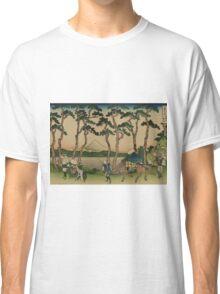 Tokaido hodogaya - Hokusai Katsushika - 1890 Classic T-Shirt
