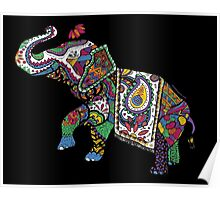 Elephant Zentangle Poster