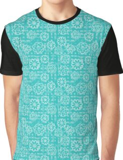 Geometric Flowers Pattern Collection Graphic T-Shirt