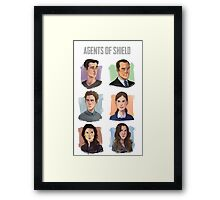 Agents of SHIELD Portraits Framed Print
