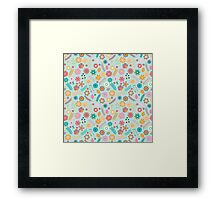 Geometric Flowers Pattern Collection Framed Print