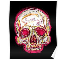 Skull abstract 01 color red Poster