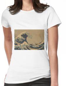 The great wave off shore of Kanagawa - Hokusai Katsushika - 1890 Womens Fitted T-Shirt
