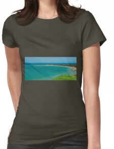 View of Apollo Bay, Great Ocean Road. Womens Fitted T-Shirt