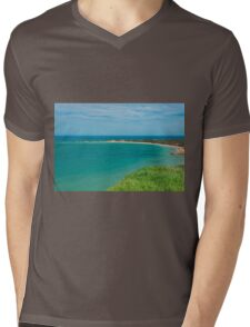 View of Apollo Bay, Great Ocean Road. Mens V-Neck T-Shirt