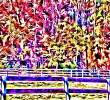 Surreal Fall Woods by surrealistic