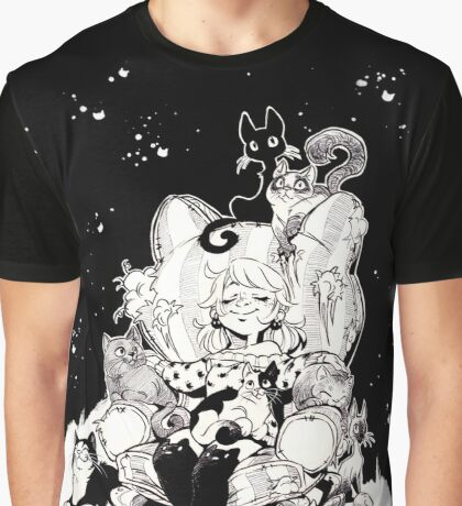 Catlady Dreams Graphic T-Shirt