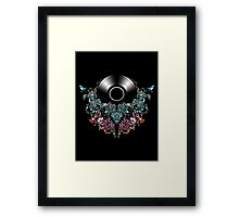 Grow - Music tee with Vintage Record Framed Print