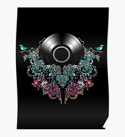 Grow - Music tee with Vintage Record Poster
