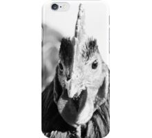Black and white rooster iPhone Case/Skin