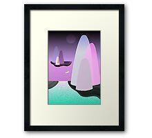 Lone Swimmer Framed Print