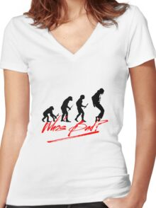 Who's Bad (Legend) Women's Fitted V-Neck T-Shirt