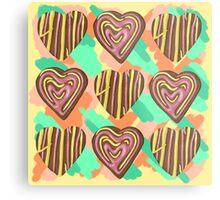Gingerbread Love on Pastel Smash Metal Print