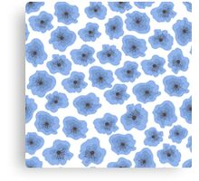 Seamless pattern with flowers Canvas Print