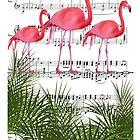 Flamingo dance by kikicollagist