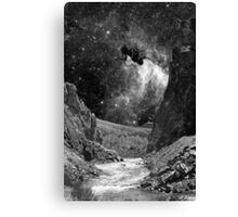Desert Wash with Stars Canvas Print