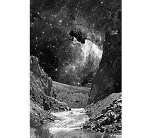 Desert Wash with Stars Photographic Print