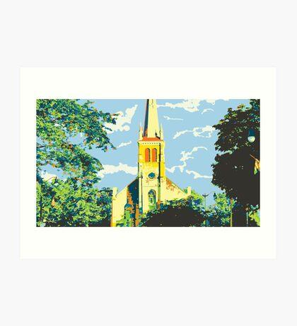 Historic St Francis Borgia Church - Cedarburg WI (bold) Art Print