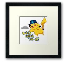 Pikachu Lays Out Framed Print