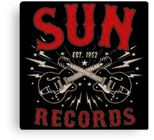 Sun Records Sparkling  Canvas Print