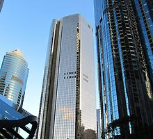 Glass Hi-Rise! (2) reflect the City. Brisbane. Queensland. Aust. by Rita Blom