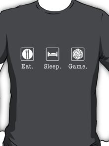 Eat. Sleep. Game. - D20 T-Shirt