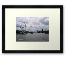 Thames Traffic Framed Print