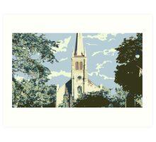 Historic St Francis Borgia Church - Cedarburg WI (muted) Art Print
