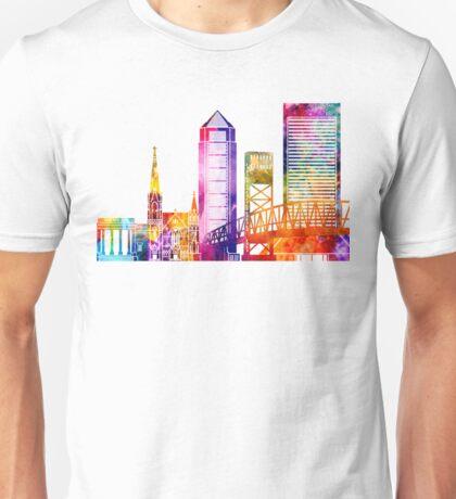 Jacksonville landmarks watercolor poster Unisex T-Shirt