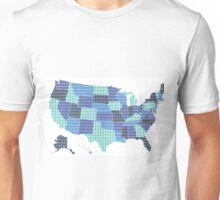 United States Map - Blue Unisex T-Shirt