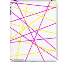 Pink and Yellow Lines iPad Case/Skin