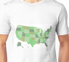 United States Map - Green Unisex T-Shirt
