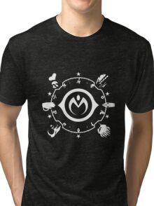 Jojo - Morioh Stands (White) Tri-blend T-Shirt
