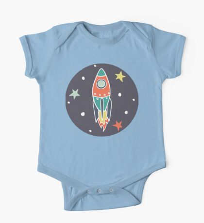 Space rocket One Piece - Short Sleeve