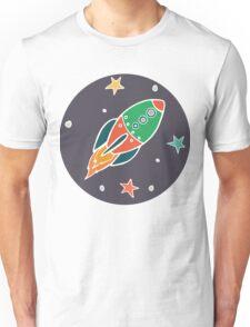Cartoon space rocket Unisex T-Shirt