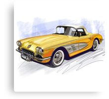 50s CORVETTE Canvas Print