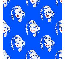 Marilyn was blue Photographic Print
