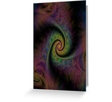 Muted Spirals Greeting Card