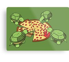 Hungry Hungry Turtles Metal Print