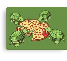 Hungry Hungry Turtles Canvas Print