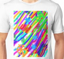 Wild snow flake colors Unisex T-Shirt